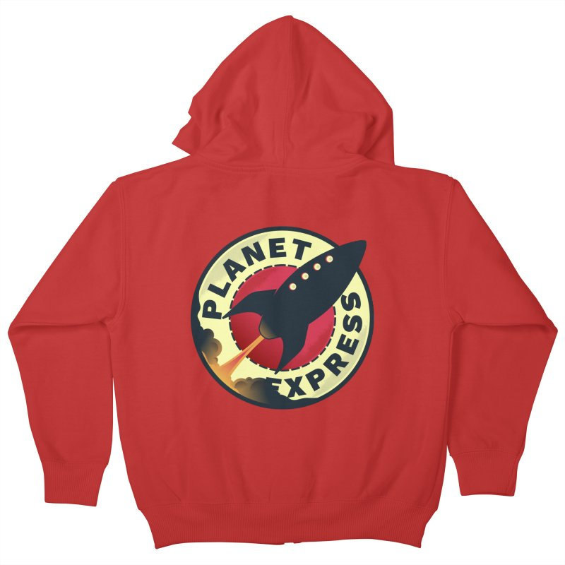 Planet Express Kids Zip-Up Hoody by mrchrisby's Artist Shop