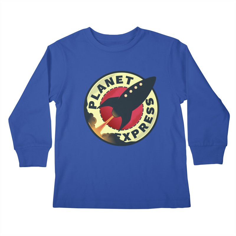 Planet Express Kids Longsleeve T-Shirt by mrchrisby's Artist Shop