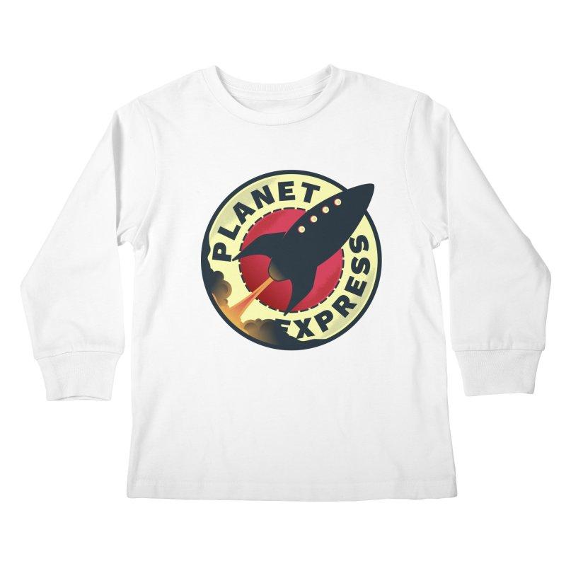 Planet Express Kids Longsleeve T-Shirt by mrchrisby's Artist Shop