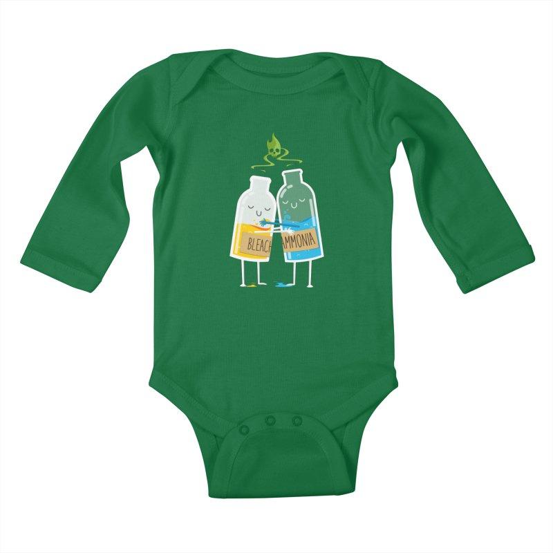 Toxic Love Kids Baby Longsleeve Bodysuit by mrchrisby's Artist Shop