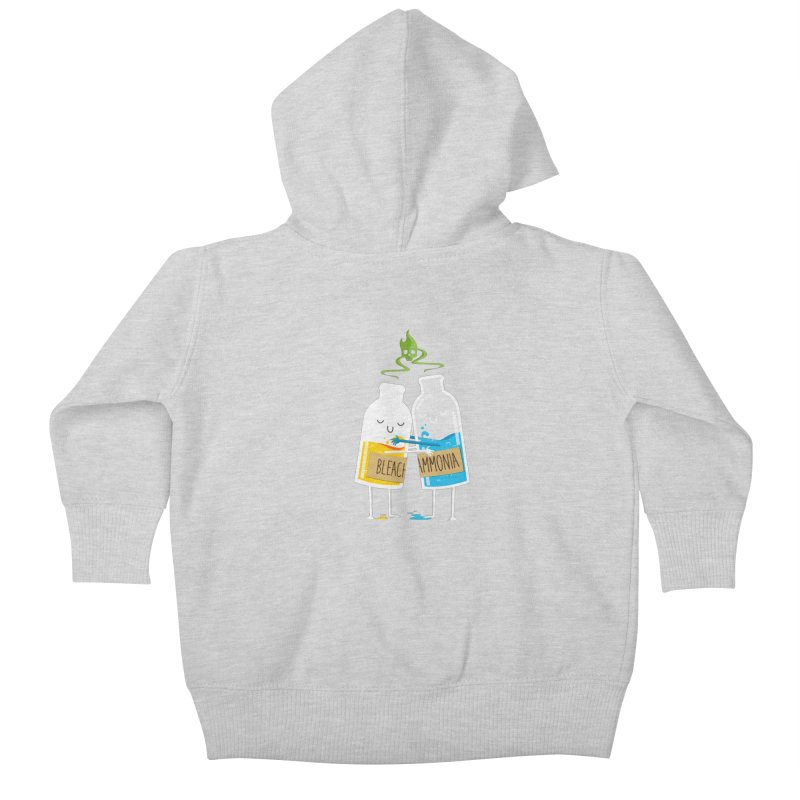 Toxic Love Kids Baby Zip-Up Hoody by mrchrisby's Artist Shop