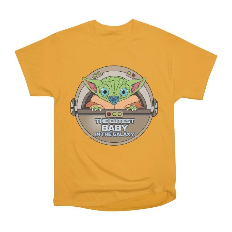The Cutest Baby in the Galaxy (Boy Version) Women's Heavyweight Unisex T-Shirt by mrdelman's Artist Shop