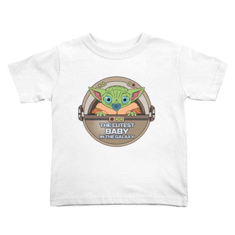 The Cutest Baby in the Galaxy (Boy Version) Kids Toddler T-Shirt by mrdelman's Artist Shop