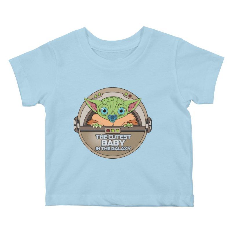 The Cutest Baby in the Galaxy (Boy Version) Kids Baby T-Shirt by mrdelman's Artist Shop
