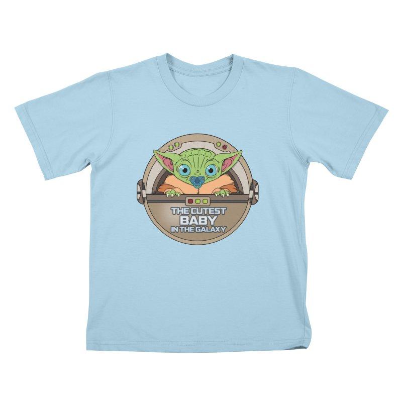 The Cutest Baby in the Galaxy (Boy Version) Kids T-Shirt by mrdelman's Artist Shop