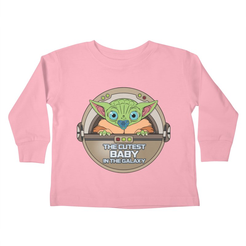 The Cutest Baby in the Galaxy (Boy Version) Kids Toddler Longsleeve T-Shirt by mrdelman's Artist Shop