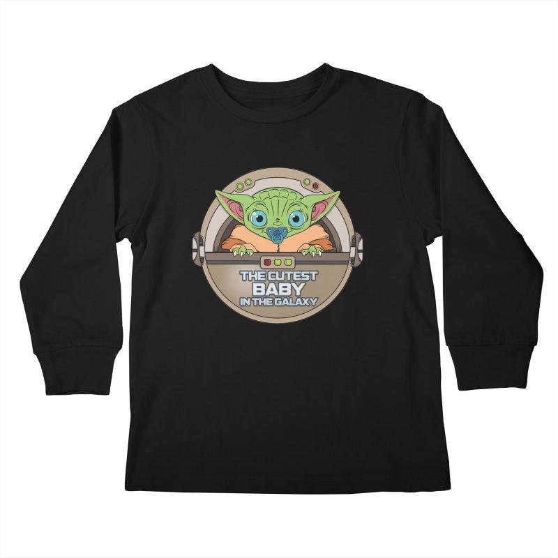 The Cutest Baby in the Galaxy (Boy Version) Kids Longsleeve T-Shirt by mrdelman's Artist Shop