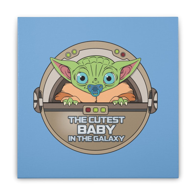 The Cutest Baby in the Galaxy (Boy Version) Home Stretched Canvas by mrdelman's Artist Shop