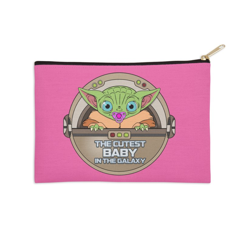 The Cutest Baby in the Galaxy (Girl Version) Accessories Zip Pouch by mrdelman's Artist Shop