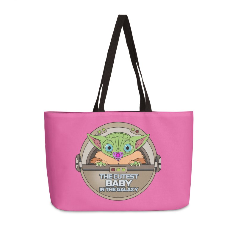 The Cutest Baby in the Galaxy (Girl Version) Accessories Weekender Bag Bag by mrdelman's Artist Shop