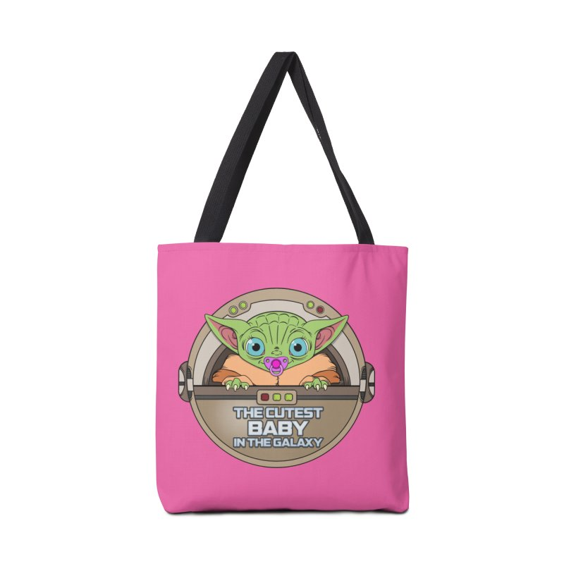 The Cutest Baby in the Galaxy (Girl Version) Accessories Tote Bag Bag by mrdelman's Artist Shop