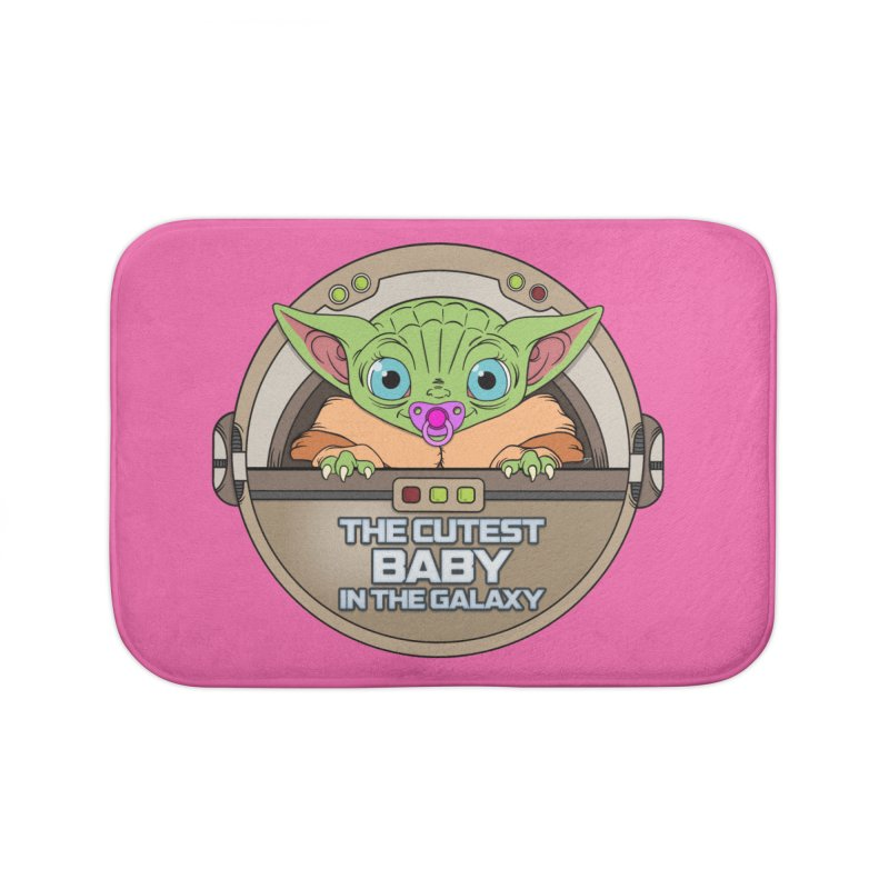 The Cutest Baby in the Galaxy (Girl Version) Home Bath Mat by mrdelman's Artist Shop