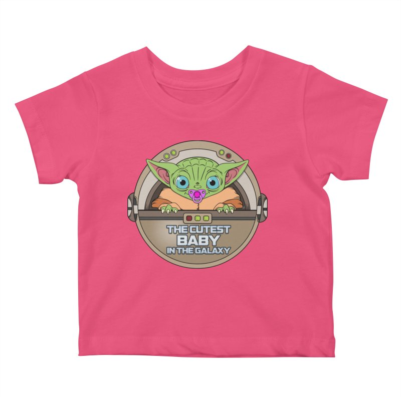 The Cutest Baby in the Galaxy (Girl Version) Kids Baby T-Shirt by mrdelman's Artist Shop