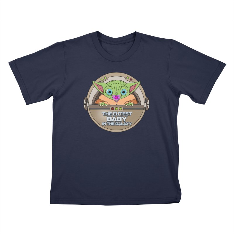 The Cutest Baby in the Galaxy (Girl Version) Kids T-Shirt by mrdelman's Artist Shop