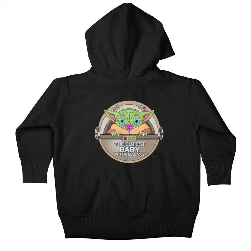 The Cutest Baby in the Galaxy (Girl Version) Kids Baby Zip-Up Hoody by mrdelman's Artist Shop