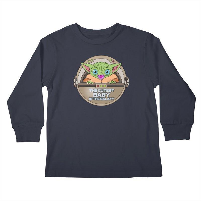 The Cutest Baby in the Galaxy (Girl Version) Kids Longsleeve T-Shirt by mrdelman's Artist Shop