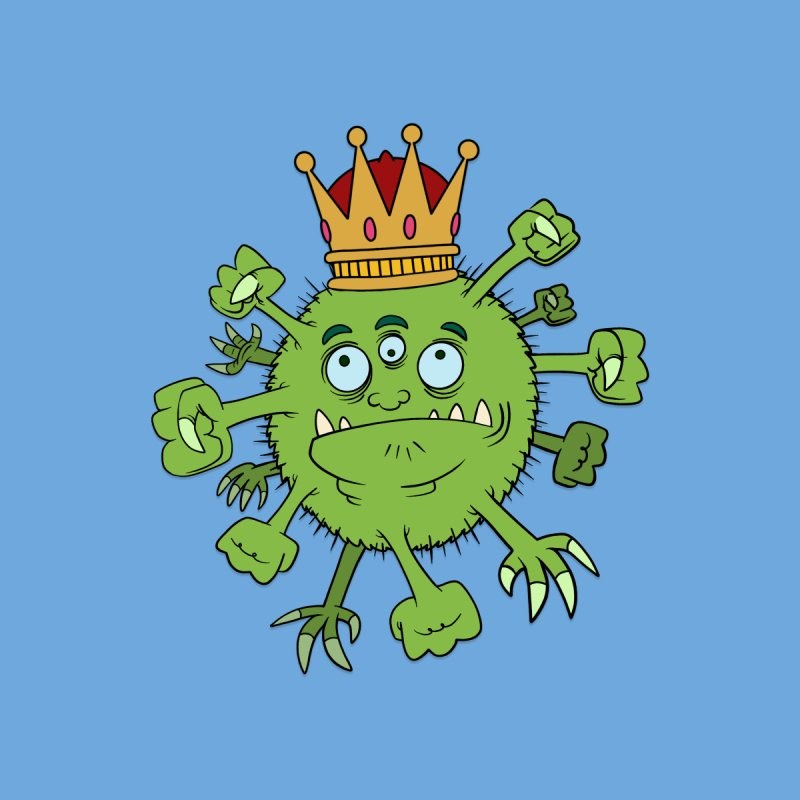 VIRUS KING Men's T-Shirt by mrdelman's Artist Shop