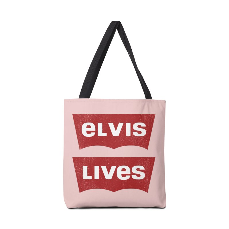 Elvis Lives Accessories Tote Bag Bag by mrdelman's Artist Shop
