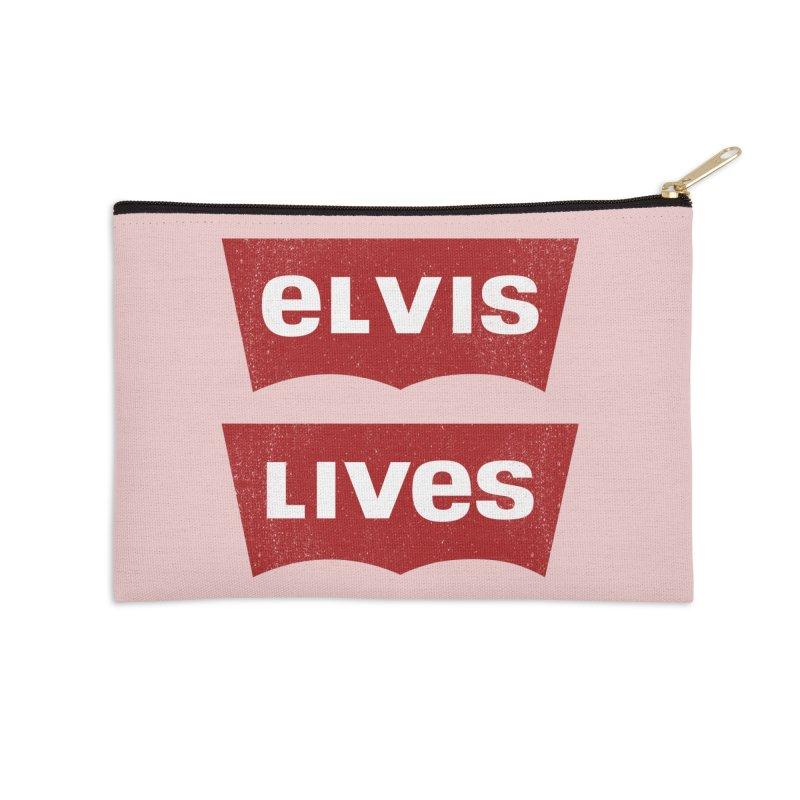 Elvis Lives Accessories Zip Pouch by mrdelman's Artist Shop