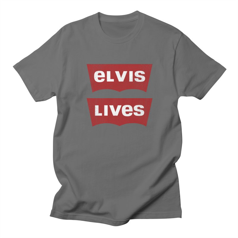 Elvis Lives Men's T-Shirt by mrdelman's Artist Shop