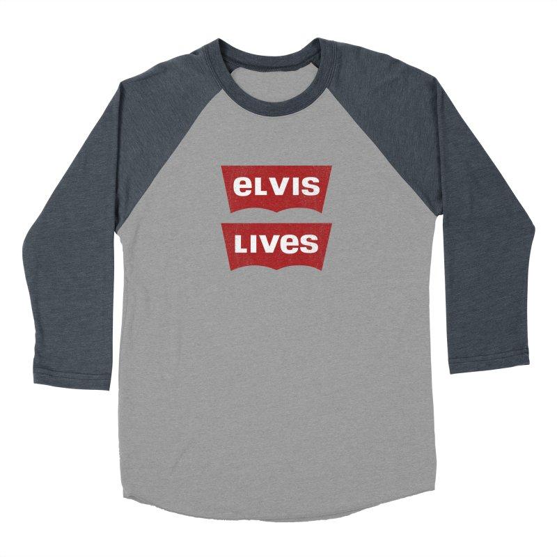 Elvis Lives Women's Baseball Triblend Longsleeve T-Shirt by mrdelman's Artist Shop