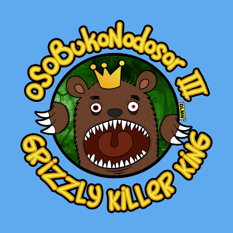 OSOBUKONODOSOR III - Grizzly Killer King - (Roar version) Women's V-Neck by mrdelman's Artist Shop