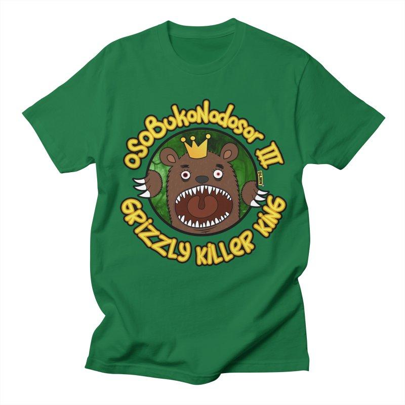 OSOBUKONODOSOR III - Grizzly Killer King - (Roar version) Men's Regular T-Shirt by mrdelman's Artist Shop