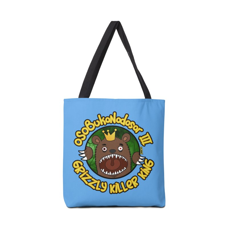 OSOBUKONODOSOR III - Grizzly Killer King - (Roar version) Accessories Tote Bag Bag by mrdelman's Artist Shop