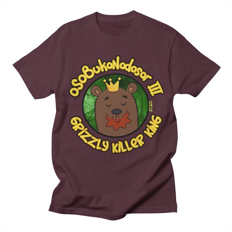OSOBUKONODOSOR III - Grizzly Killer King - (Satisfied version) Men's Regular T-Shirt by mrdelman's Artist Shop
