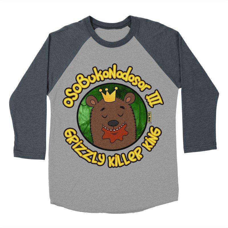 OSOBUKONODOSOR III - Grizzly Killer King - (Satisfied version) Women's Baseball Triblend Longsleeve T-Shirt by mrdelman's Artist Shop