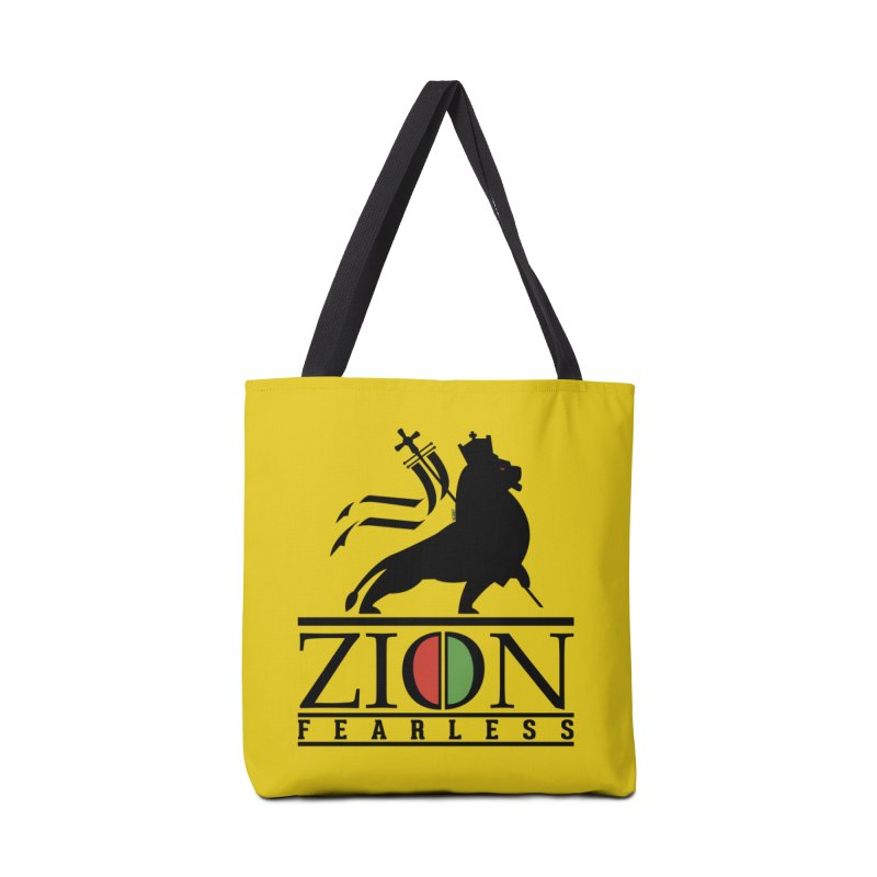 Iron Lion Zion Accessories Tote Bag Bag by mrdelman's Artist Shop