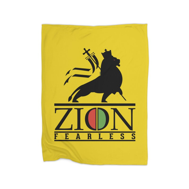 Iron Lion Zion Home Fleece Blanket Blanket by mrdelman's Artist Shop