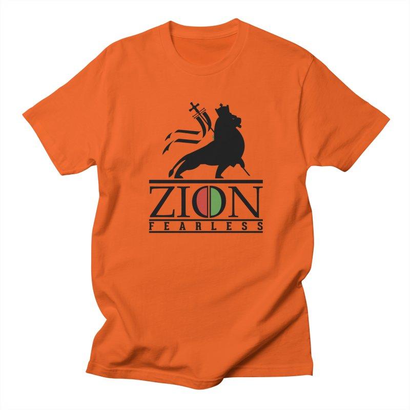 Iron Lion Zion Men's T-Shirt by mrdelman's Artist Shop