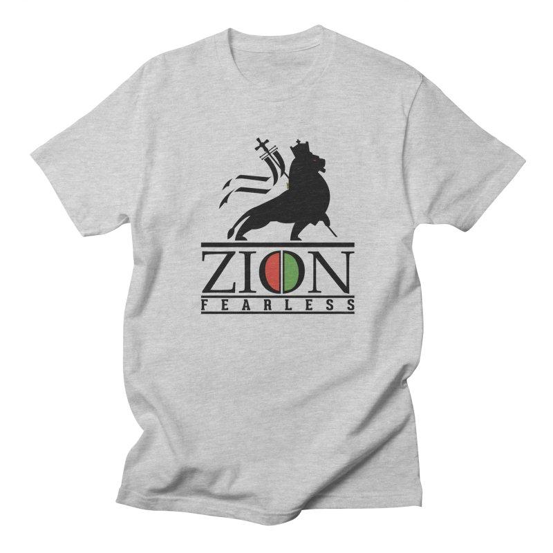 Iron Lion Zion Men's Regular T-Shirt by mrdelman's Artist Shop
