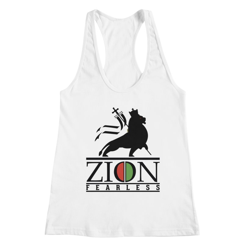 Iron Lion Zion Women's Racerback Tank by mrdelman's Artist Shop