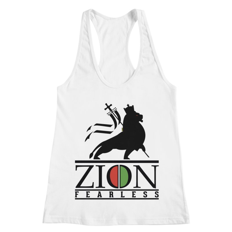 Iron Lion Zion Women's Racerback Tank by mrdelman's Artist Shop