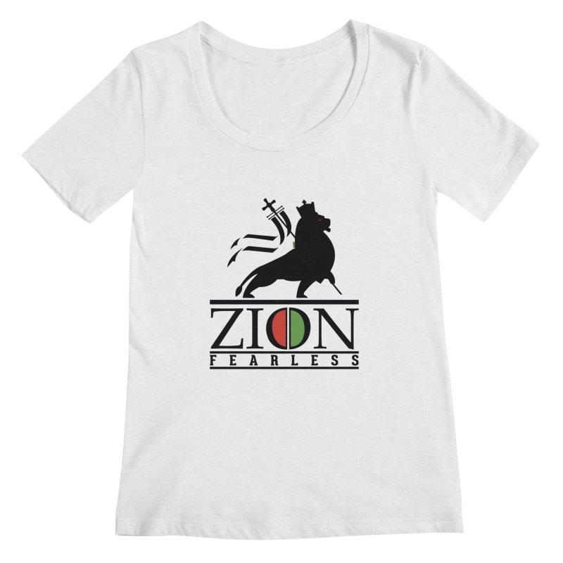 Iron Lion Zion Women's Regular Scoop Neck by mrdelman's Artist Shop