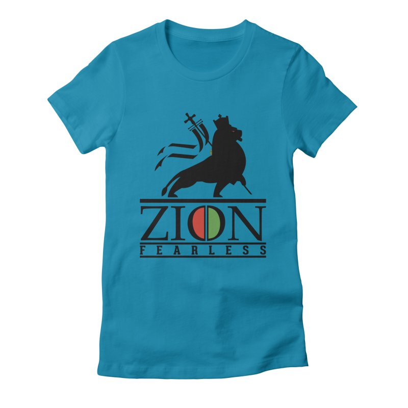 Iron Lion Zion Women's Fitted T-Shirt by mrdelman's Artist Shop