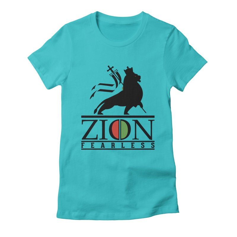 Iron Lion Zion Women's Fitted T-Shirt by mrdelman's Artist Shop