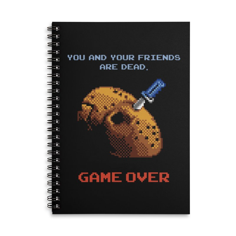Friday the 13th - 8 bits - Game Over - Accessories Notebook by mrdelman's Artist Shop
