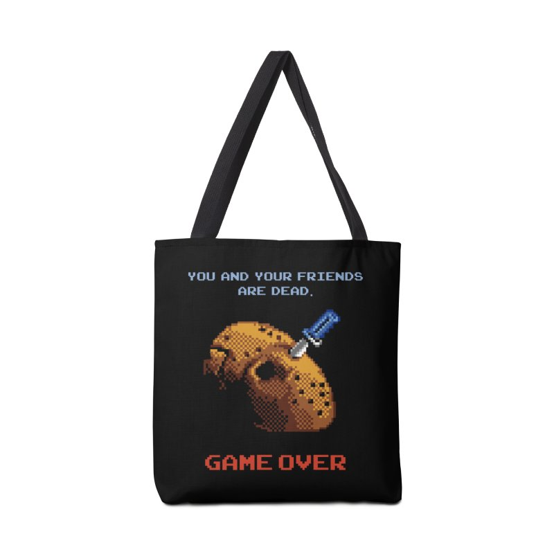 Friday the 13th - 8 bits - Game Over - Accessories Tote Bag Bag by mrdelman's Artist Shop