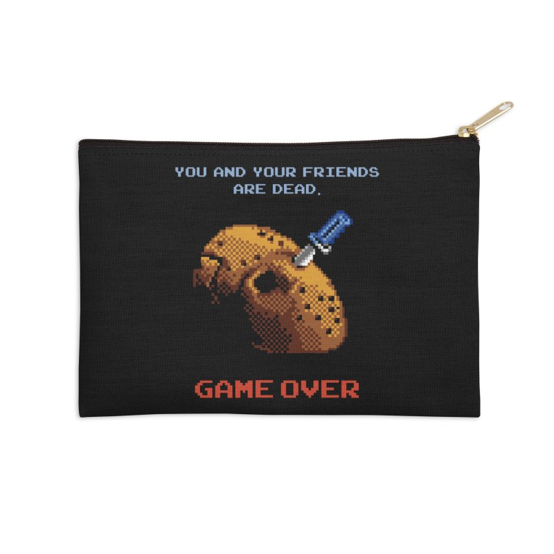 Friday the 13th - 8 bits - Game Over - Accessories Zip Pouch by mrdelman's Artist Shop
