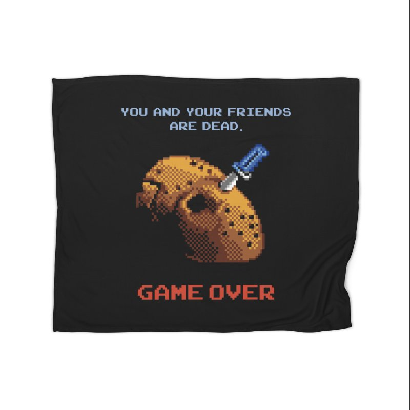 Friday the 13th - 8 bits - Game Over - Home Fleece Blanket Blanket by mrdelman's Artist Shop