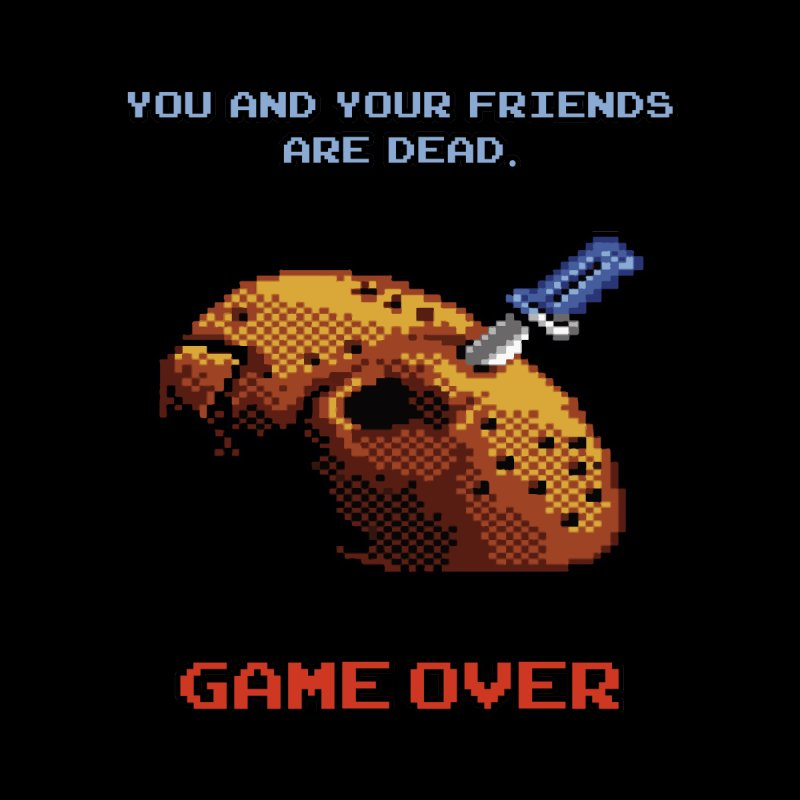 Friday the 13th - 8 bits - Game Over - Men's T-Shirt by mrdelman's Artist Shop