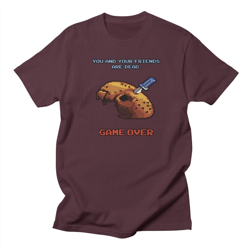 Friday the 13th - 8 bits - Game Over - Men's Regular T-Shirt by mrdelman's Artist Shop