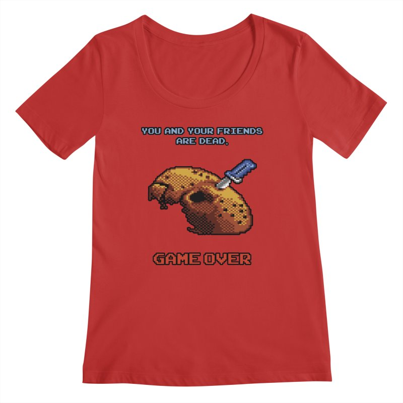 Friday the 13th - 8 bits - Game Over - Women's Regular Scoop Neck by mrdelman's Artist Shop