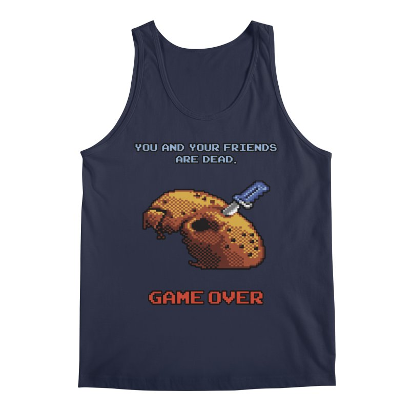 Friday the 13th - 8 bits - Game Over - Men's Regular Tank by mrdelman's Artist Shop