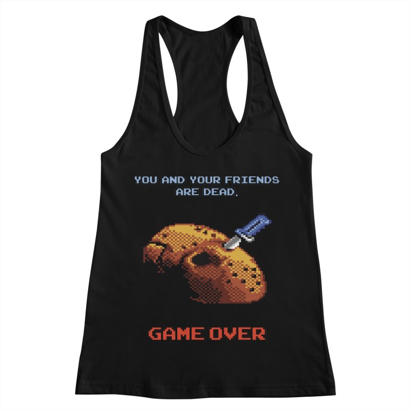 Friday the 13th - 8 bits - Game Over - Women's Racerback Tank by mrdelman's Artist Shop