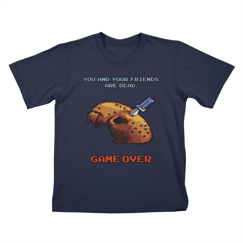 Friday the 13th - 8 bits - Game Over - Kids T-Shirt by mrdelman's Artist Shop