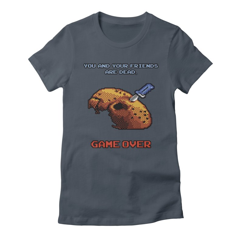 Friday the 13th - 8 bits - Game Over - Women's T-Shirt by mrdelman's Artist Shop